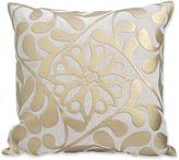 Metallic Flower Square Throw Pillow