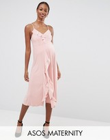 Asos WEDDING Cami Frill Midi Dress