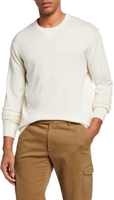 Neiman Marcus Men's Solid Crewneck Sweater