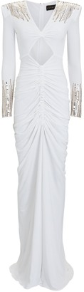 Dundas Sequined Jersey Cut-Out Gown