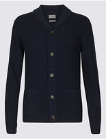 M&S Collection Lambswool Rich Textured Cardigan