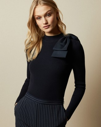 Ted Baker AMBHER Bow detail knitted top