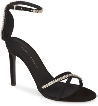 Giuseppe Zanotti Crystal Embellished Ankle Strap Sandal
