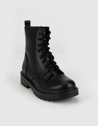 Soda Sunglasses Lug Sole Womens Black Combat Boots