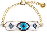 Shourouk Women's Gold Plated Moodz Beaded Eye Bracelet of Length 15.0-19.0cm