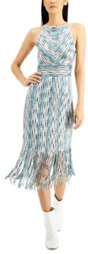 INC International Concepts Inc Space-Dyed Halter Dress, Created for Macy's