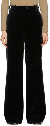Acne Studios Navy Corduroy Flared Trousers