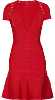 Herve Leger Hillary Tulle-Paneled Bandage Dress