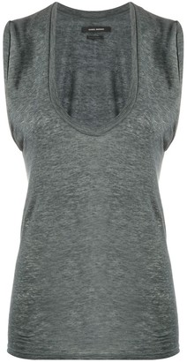 Isabel Marant Sleeveless Linen Tank Top