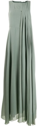 Fabiana Filippi Pleated Chiffon Dress