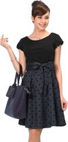 Sweet Mommy Nursing and Maternity Polka Dot Two-Tone Dress [Made in Japan] MBK