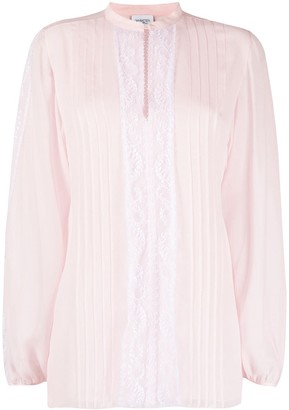 Giambattista Valli Lace-Panelling Pleated Blouse