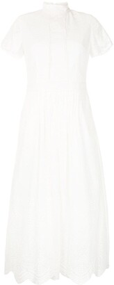 We Are Kindred Lola high-neck broderie anglaise dress