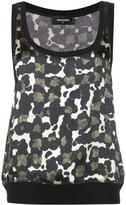DSQUARED2 spotted pattern tank top
