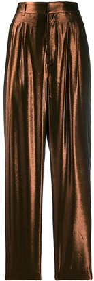 Indress Tapered Metallic Trousers