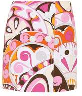 Emilio Pucci Printed cotton miniskirt