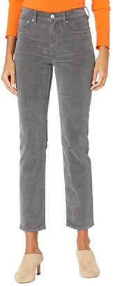 J.Crew Vintage Straight Pants in Garment-Dyed Corduroy (Coal Grey) Women's Casual Pants