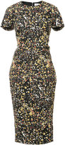 Victoria Beckham splatter print dress - women - Cotton/Polyamide/Polyester/Spandex/Elastane - 8