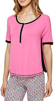 Kensie Henley Color Block Jersey Sleep Top