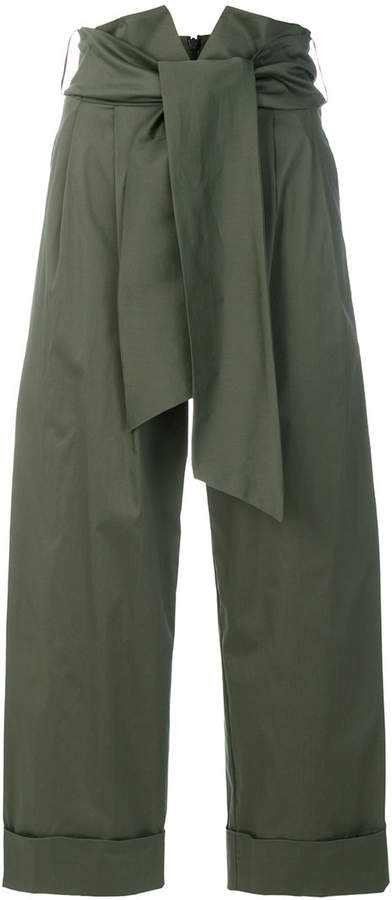 D-Exterior D.Exterior high rise cropped trousers
