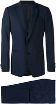 Lardini contrasting piping two-piece suit - men - Polyester/Spandex/Elastane/Wool - 46