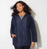 Avenue Navy Quilted Fleece Anorak Jacket