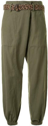 R 13 Elasticated Ankle Dropped Crotch Trousers