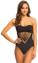 Kenneth Cole Strappy Hour Bandeau Cut Out One Piece Swimsuit 8139293