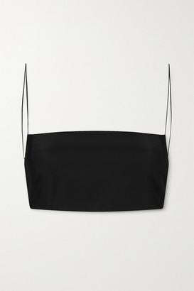 GAUGE81 Chiba Silk-satin Bralette - Black
