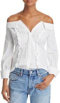 Aqua Ruffled Off-the-Shoulder Shirt - 100% Exclusive