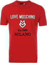 Love Moschino logo T-shirt - men - Cotton/Spandex/Elastane - XS