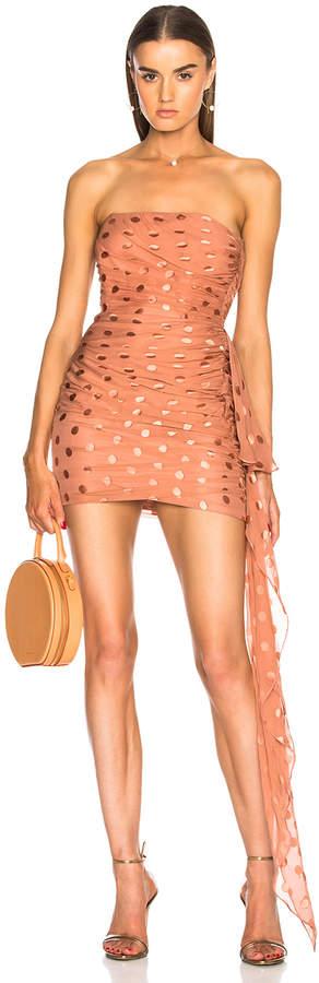 Mason by Michelle Mason Ruched Strapless Dress in Desert Rose | FWRD