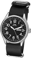 Limit Pilot Men's Quartz Watch with Black Dial Analogue Display and Black PU Strap 5493.01