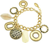 T Tahari Bracelet, 14k Gold-Plated Spot On Collection Multi Charm Bracelet