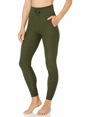 Core 10 Cozy High Waist Legging With Pockets Olive Heather 1X (14W-16W)