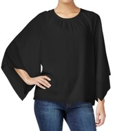 Vince Camuto Black Rich Women's Size Small S Crepe Pleated Blouse