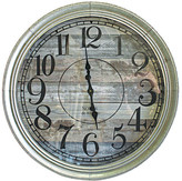 Distressed Panel Mitte Wall Clock