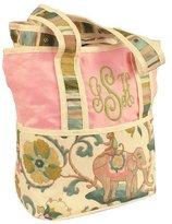 Hoohobbers Tote Diaper Bag, Pink Cirque