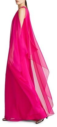 Halston x Netflix Marisa Silk One-Shoulder Gown