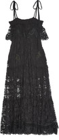 Chloé Tassel-trimmed tiered lace maxi dress