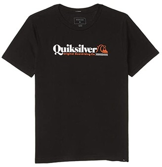 Quiksilver Check Yo Self Screen Tee (Big Kids) (Black) Boy's Clothing