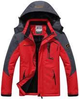Sawadikaa Men's Outdoor Waterproof Mountain Fleece Plus Size Ski Jacket Sportwear Army Green
