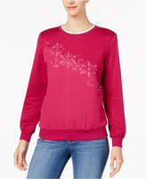 Alfred Dunner Family Jewels Petite Embellished Sweatshirt