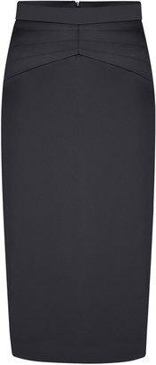 Anna October High-Rise Satin Pencil Skirt