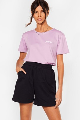 Nasty Gal Womens Nothing But a Relaxed Tee - Lilac