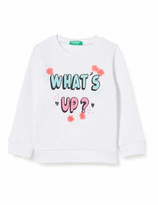 Benetton Baby Girls' Felpa Sports Hoodie