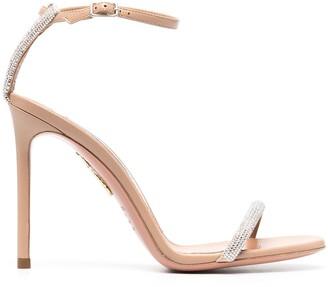 Aquazzura 110mm Moon Crystal sandals