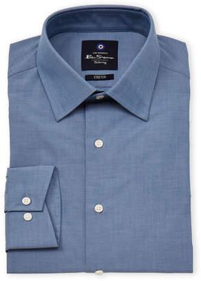 Ben Sherman Stretch Collar Chambray Long Sleeve Dress Shirt