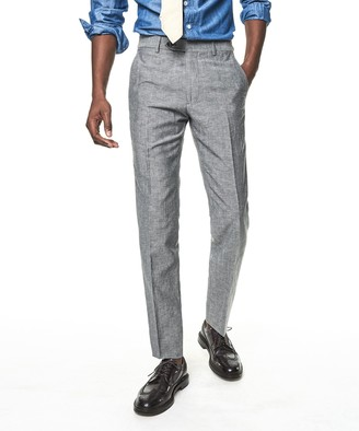 Todd Snyder Black Label Made In USA Linen Sutton Trouser in Grey