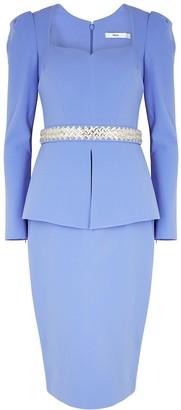 Safiyaa Kaleisha blue peplum midi dress
